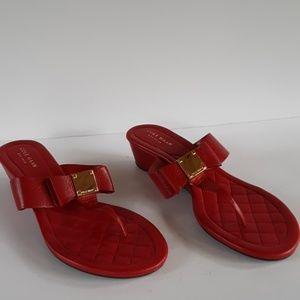 Cole Haan red thong sandal flip flop